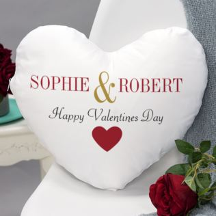 Personalised Valentines Day Heart Shaped Cushion Product Image