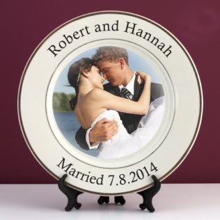 Personalised Wedding Photo Plate Product Image