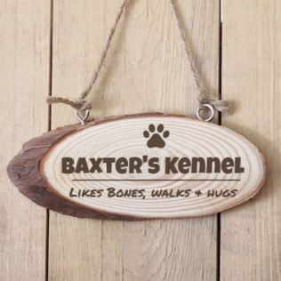 Personalised Dog Kennel Wooden Hanging Plaque Product Image