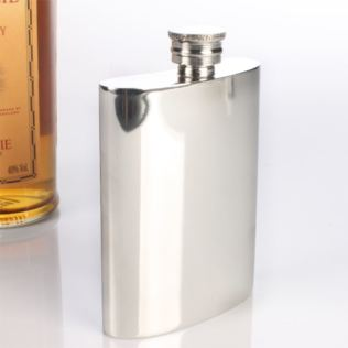 Engraved Pewter Hip Flask Product Image