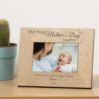 Our First Mothers Day Wood Frame 7x5 Product Image