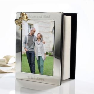 Engraved Photo Album With Gold Coloured Bow Product Image