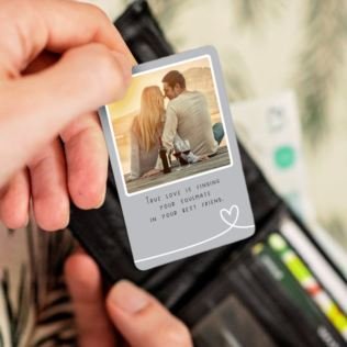 Personalised Romantic Metal Wallet Photo Card Product Image