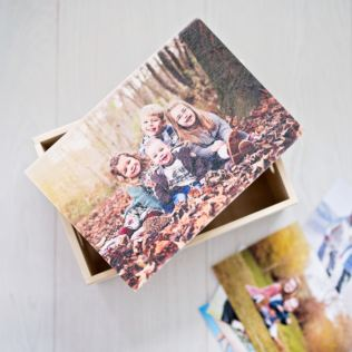 Personalised Wooden Photo Memory Box Product Image
