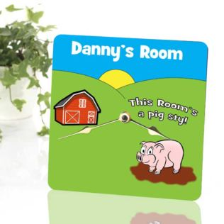 Farm Personalised Clock Product Image