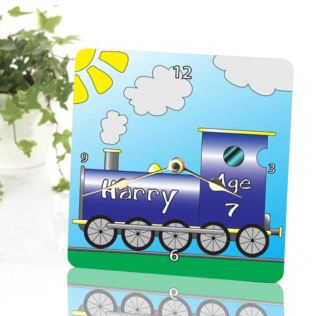 Train Personalised Clock Product Image