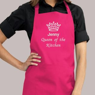 Personalised Embroidered Queen of the Kitchen Apron Product Image