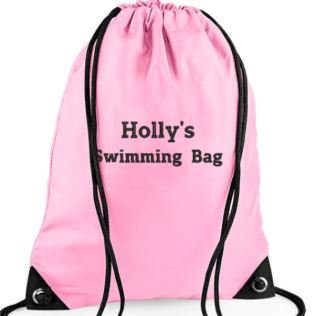 Personalised Embroidered Pink Gym/PE/Swim Kit Bag Product Image