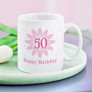 Pink Flower Birthday Mug Product Image