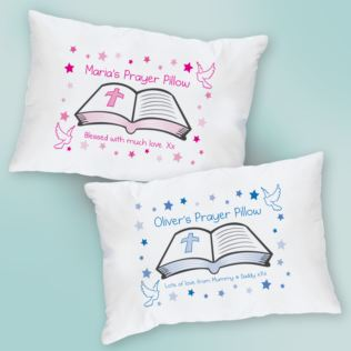 Personalised Prayer Pillowcase - Blue or Pink Product Image