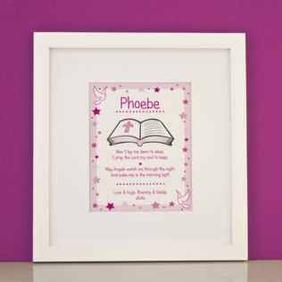 Personalised Prayer Girls Framed Print Product Image