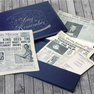 Pearl Anniversary Presentation Folder - Original Newspapers Product Image