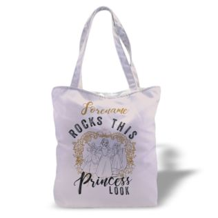 Disney Princess Princess Rocks Personalised Canvas Tote Bag Product Image