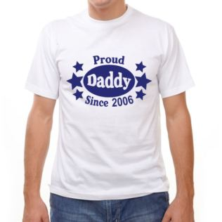 Proud Daddy Since... Personalised T-Shirt Product Image