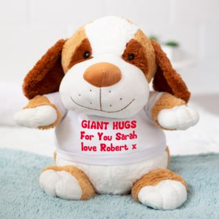 Extra Large Personalised Puppy Soft Toy Product Image