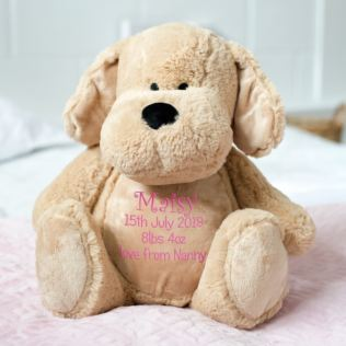 Baby Girl Embroidered Cuddly Puppy Dog Product Image