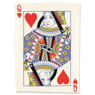 Queen Of Hearts Playing Card Tea Towel Product Image