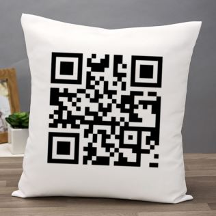 Personalised Barcode Code Cushion Product Image
