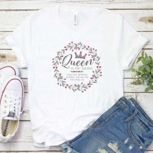 Personalised Queen Of The Garden T-Shirt Product Image