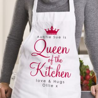 Queen Of The Kitchen Personalised Apron Product Image