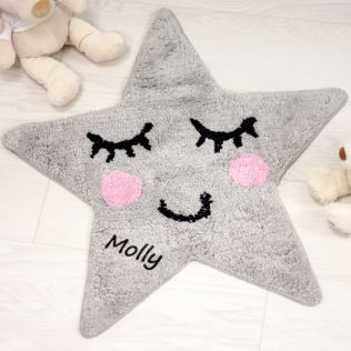 Personalised Sweet Dreams Grey Star Rug Product Image