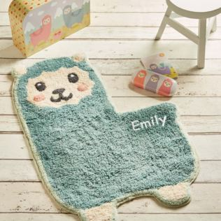 Personalised Embroidered Little Llama Rug Product Image