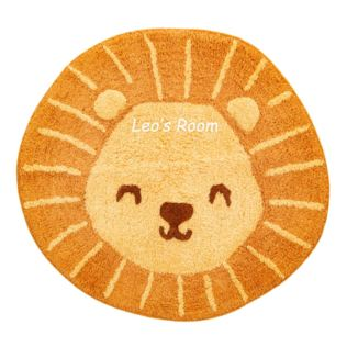 Embroidered Personalised Lion Head Rug Product Image