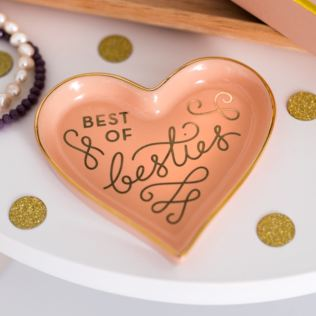 Best Of Besties Heart Shaped Trinket Tray Product Image