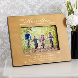 Personalised Wooden Family Photo Frame Product Image