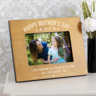 Personalised Mother's Day Wooden Photo Frame Product Image