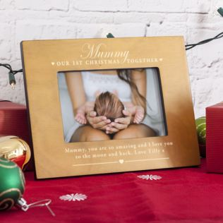 Personalised Our First Christmas Together Mummy Photo Frame Product Image
