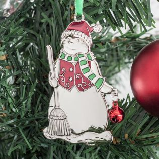 Personalised Snowman Tree Decoration Product Image
