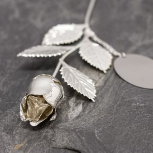 Personalised Silver Plated Rose Product Image