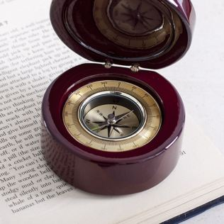 Compass In Personalised Luxury Wooden Box Product Image