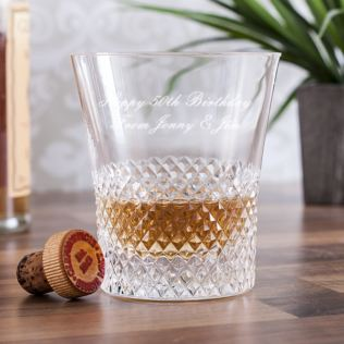 Personalised Royal Brierley Luxury Crystal Antibes Whisky Tumbler Product Image