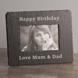 Personalised Rectangle Slate Photo Frame Product Image