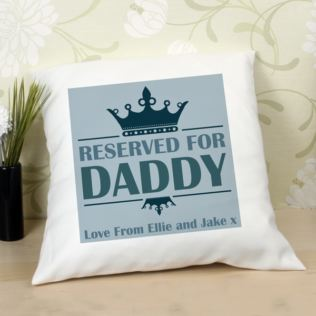 Reserved For Daddy Personalised Cushion Product Image