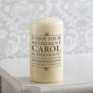 Personalised Retirement Candle Product Image