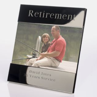 Engraved Retirement Photo Frame Product Image