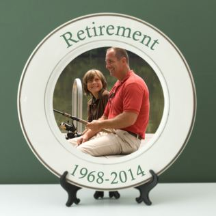 Personalised Retirement Photo Plate Product Image