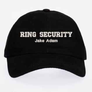 Personalised Embroidered Wedding Ring Bearer Cap Product Image