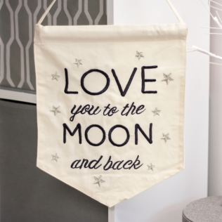 Love You To The Moon and Back Banner Product Image
