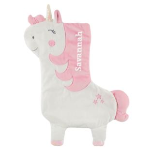 Personalised Embroidered Betty The Rainbow Unicorn Christmas Stocking Product Image