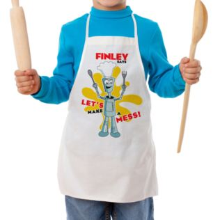 Personalised Robot Children's Apron Product Image