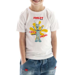 Personalised Robot Children's T-Shirt Product Image