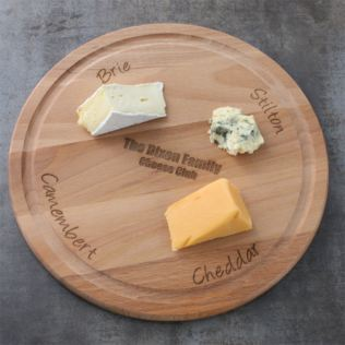 Personalised Round Wooden Cheese Board Product Image