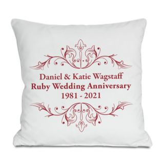 Personalised Ruby Anniversary Cushion Product Image