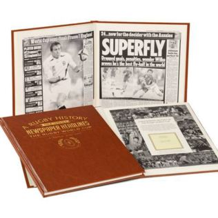 Personalised Rugby World Cup Newspaper Book Product Image