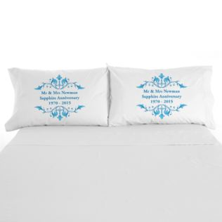 Personalised Sapphire Anniversary Pillowcases Product Image