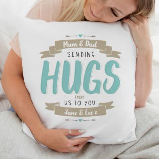 Personalised Sending Hugs Cushion Product Image